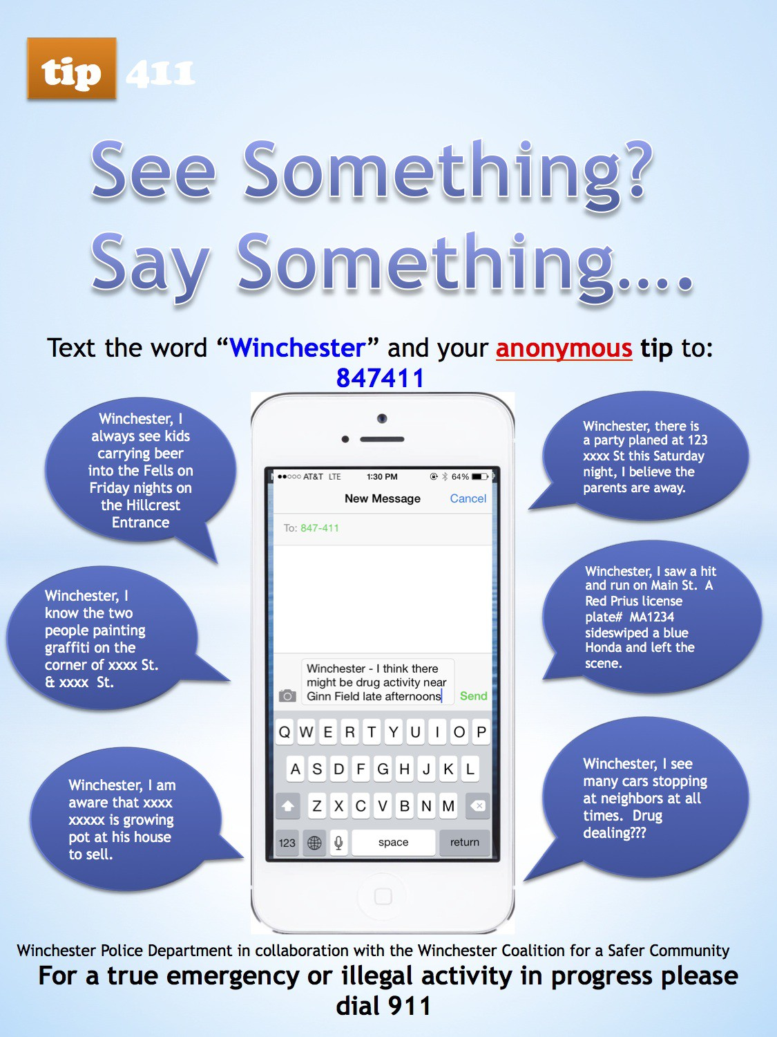 Anonymous Text Tip Line | Winchester Coalition For A Safer